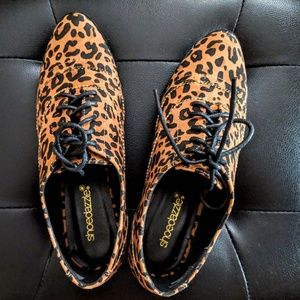 Leopard Print Oxfords